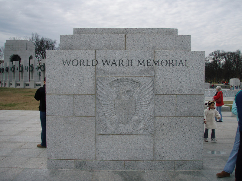 main (east) entrance to the World War II Memorial