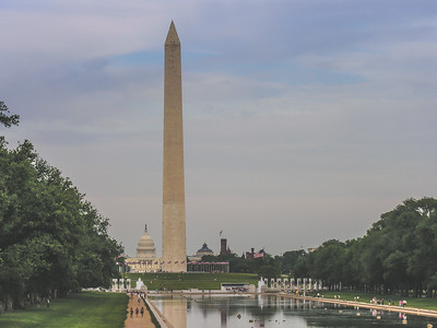 Capital Hill, Washington Monument, & the Reflecting Pool...view from the Lincoln Memorial