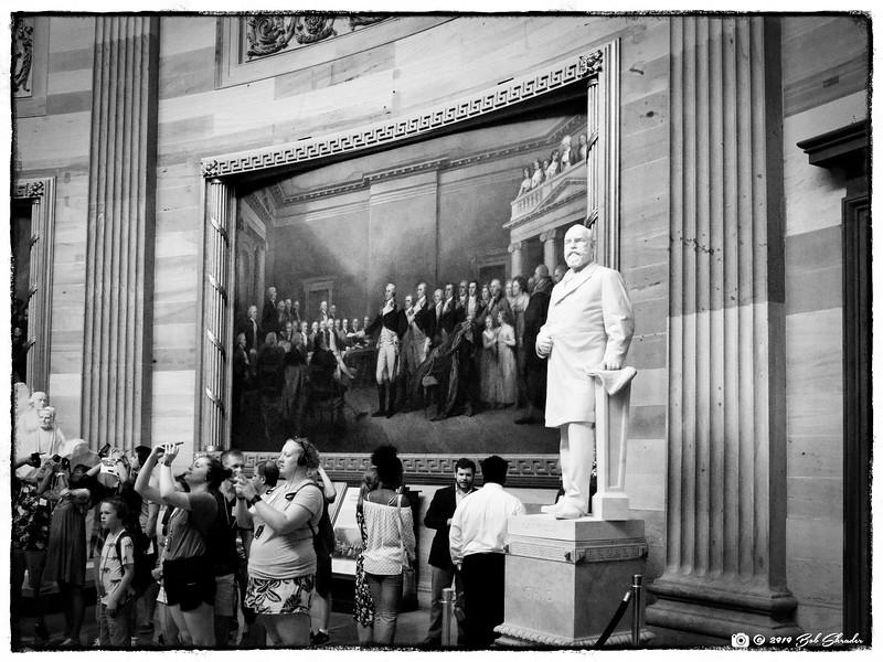 James A. Garfield and Visitors