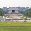 Lincoln Memorial and the Reflecting Pool...view from the Washington Monument