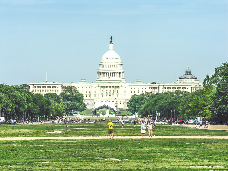 View of the Capitol in the Mall