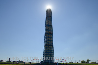 Washington Monument Topped by the Sun
