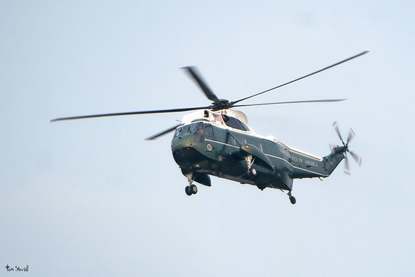 One of two Presidential helicopters