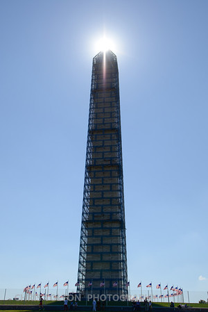 Washington Monument Holds the Sun