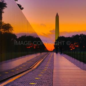 Sunrise over the Vietnam Memorial