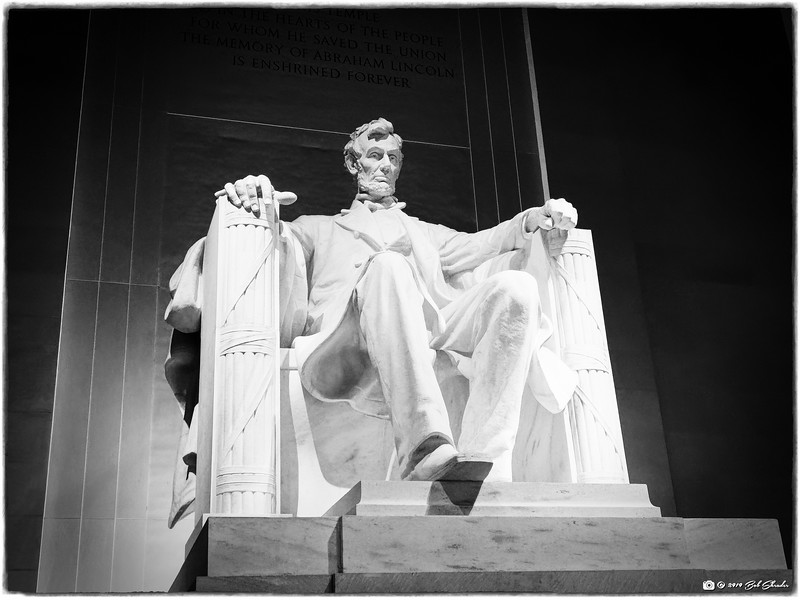 Lincoln Statuary in Black and White