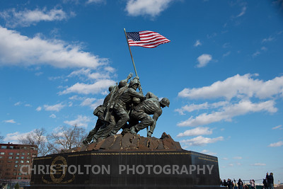 Iwo Jima Memorial and Blue Sky