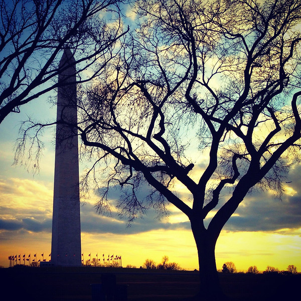 Washington Monument at Sunset. 2011.