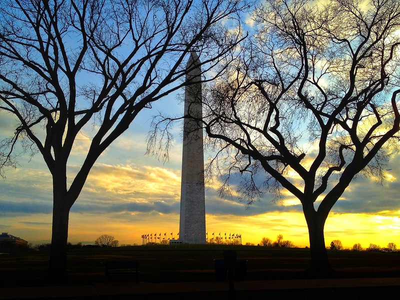 The Washington Monument at Sunset. 2012.