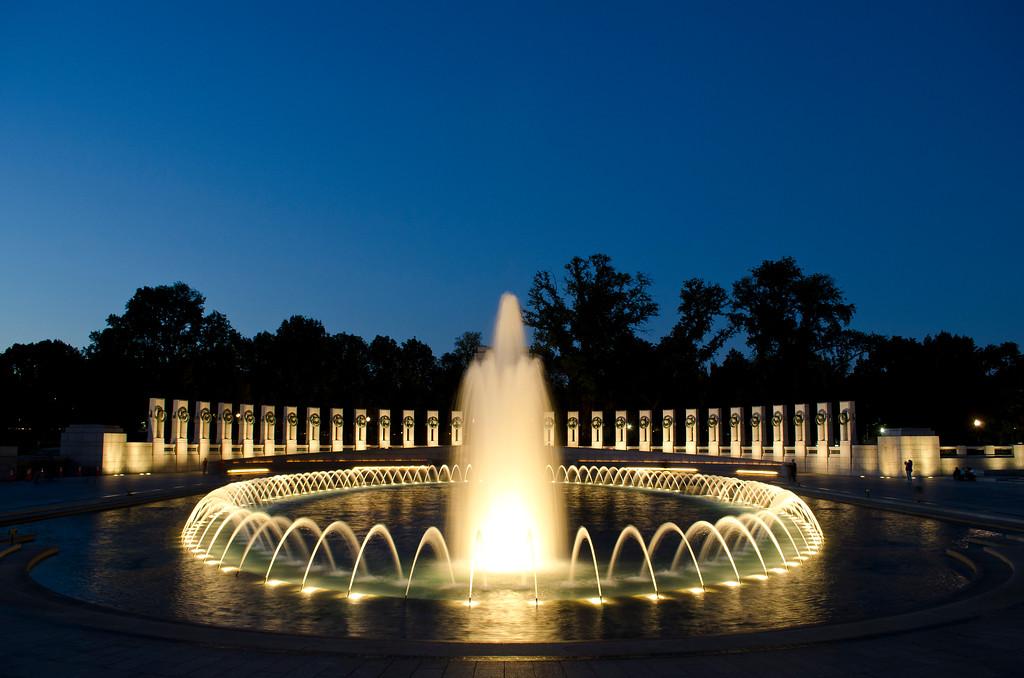 WWII Memorial Fountain - Color