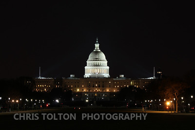 US Capitol Shines Above the City of Washington