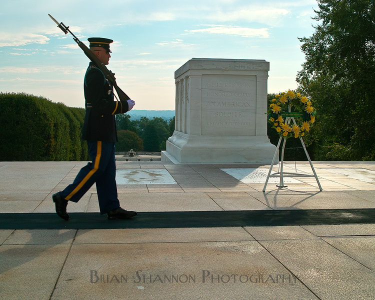 Tomb guard at the Tomb of the Unknowns