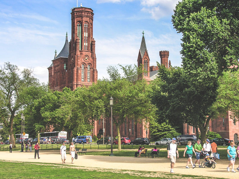 The Smithsonian Castle in the Mall