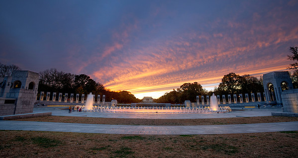 WWII Memorial Sunset