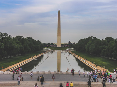 Washington Monument & the Reflecting Pool...view from the steps of the Lincoln Memorial