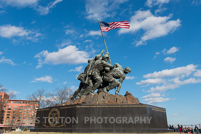 Iwo Jima Memorial from Right Side