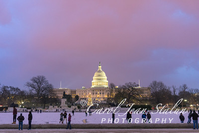 Winter Pink Sky at Capitol