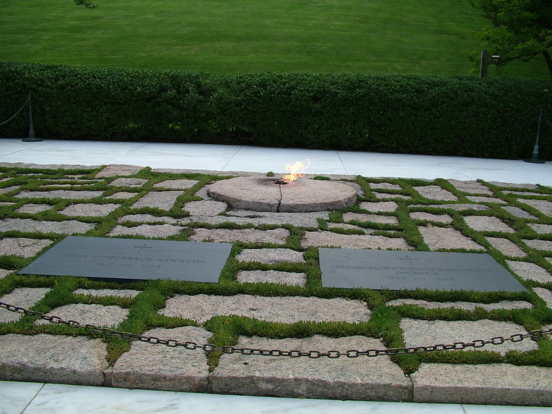 John F. Kennedy and Jacqueline ~ grave sites and Eternal Flame