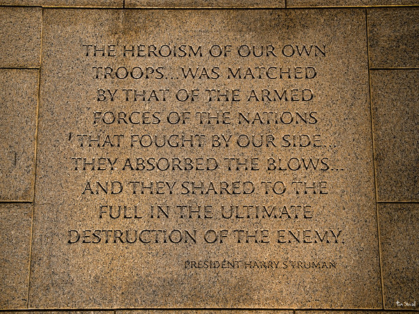 From a wall at the World War II Memorial in DC