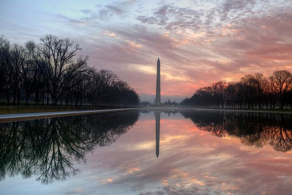 The Reflecting Pool in Washington DC