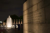 A wall inside the WW II Memorial