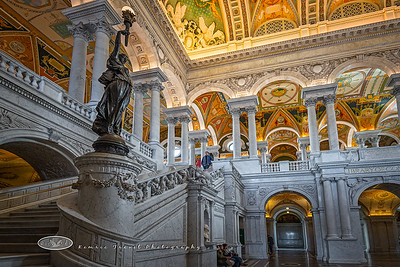 Library of Congress staircase