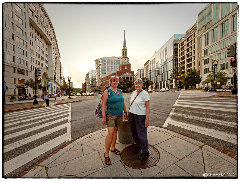 Elizabeth & Sue in Front of Famous Church