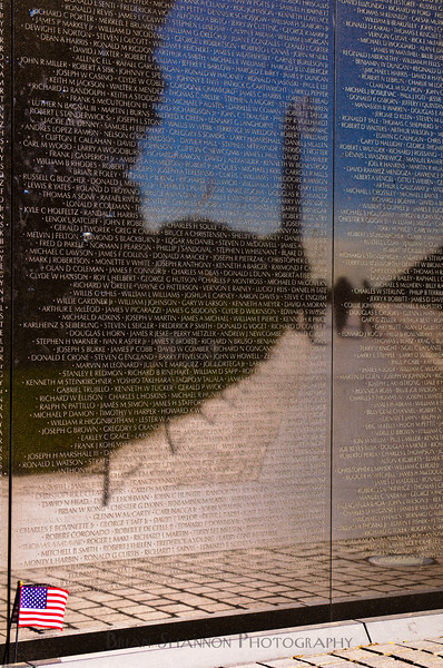 Flag on Vietnam Veterans wall