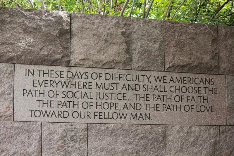 Saying in FDR memorial