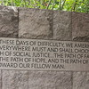 Saying in FDR memorial