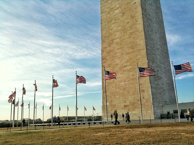 The base of the Washington Monument. 2010.