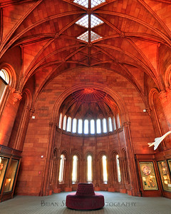 Smithsonian Castle HDR image of the common room
