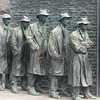 Statues showing Breadline during Great Depression