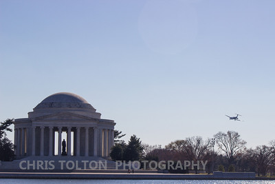 Jet Passes Jefferson Memorial