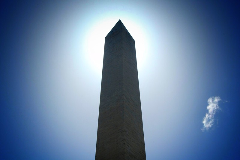 The Washington Monument with Sun Behind. 2010.