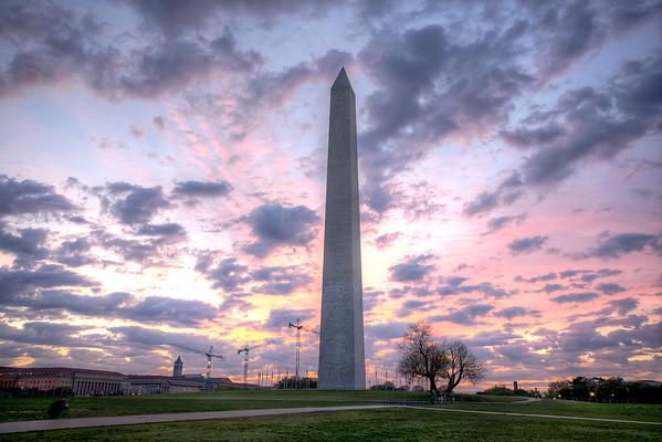 Beautiful Washington Monument Sunrise