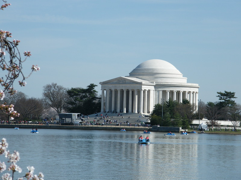 Jefferson Memorial ~ across the Tidal Basin