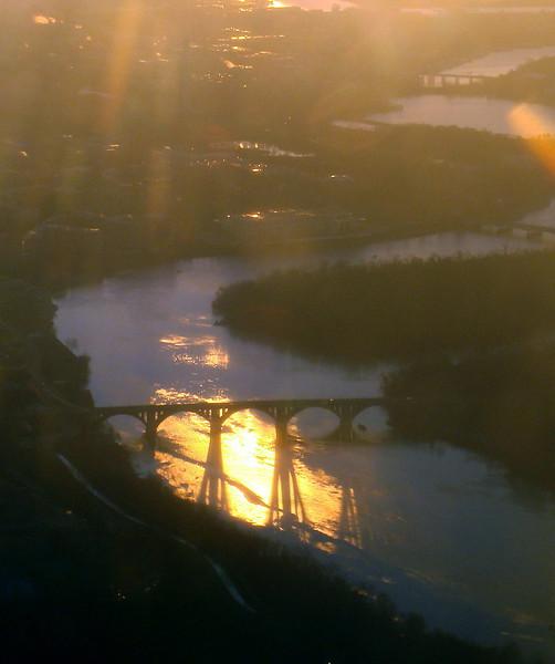 Sunrise over the Potomac River
