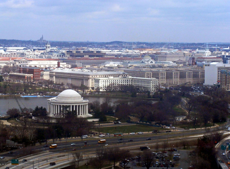Jefferson Memorial and the City