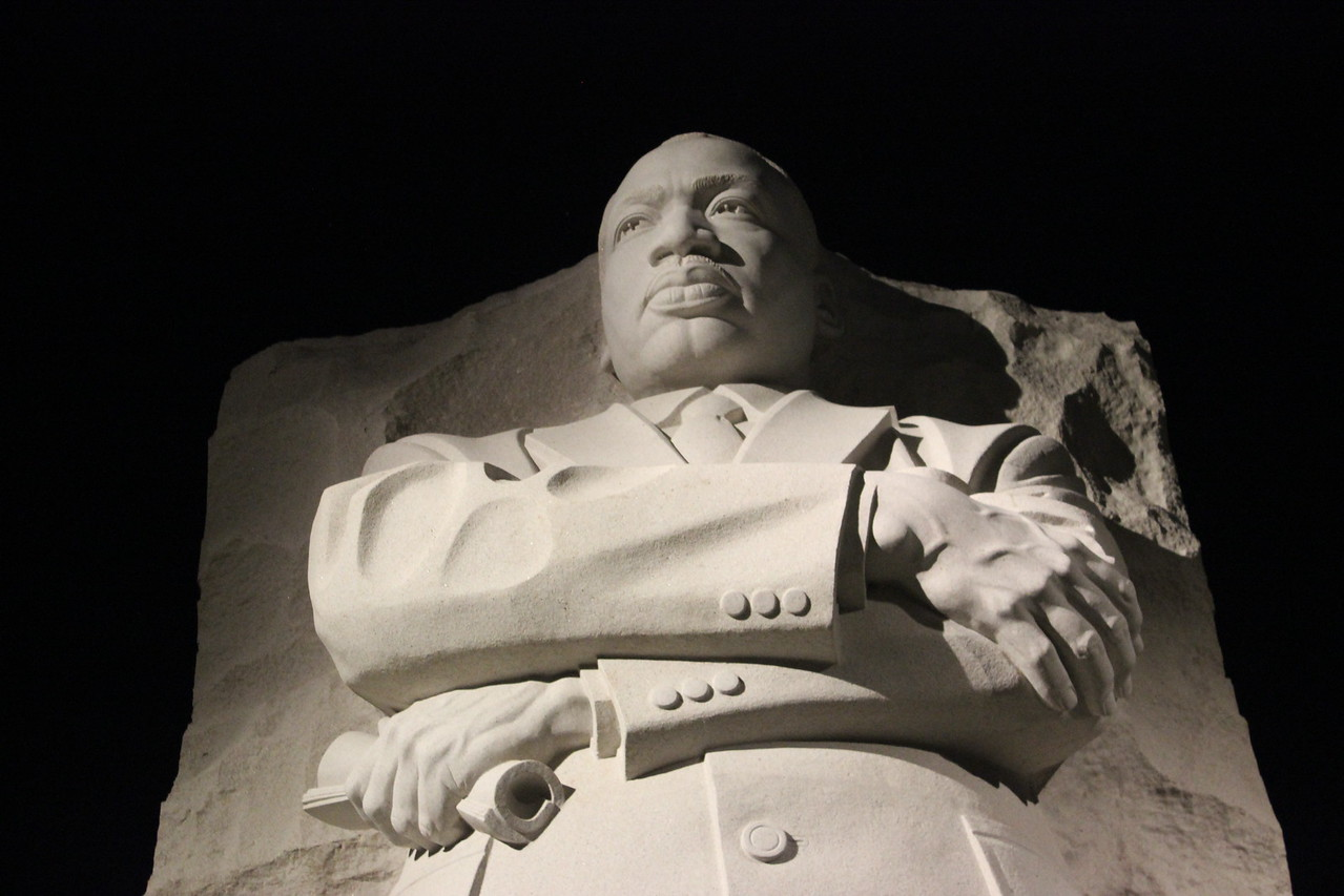 "Martin Luther King, Jr. Memorial Holding His ""Dream"" Speech"