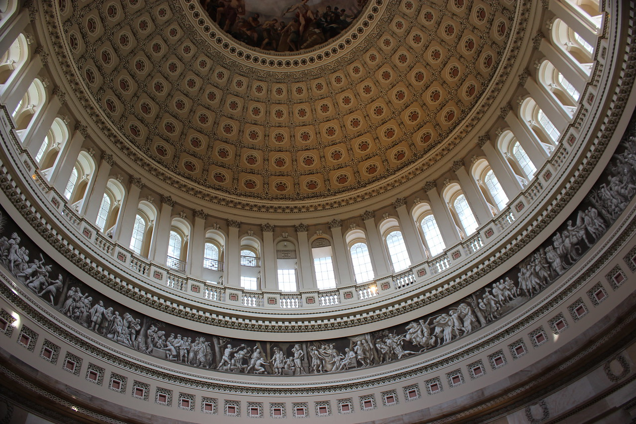 Rotunda Dome with Frescoes of American History