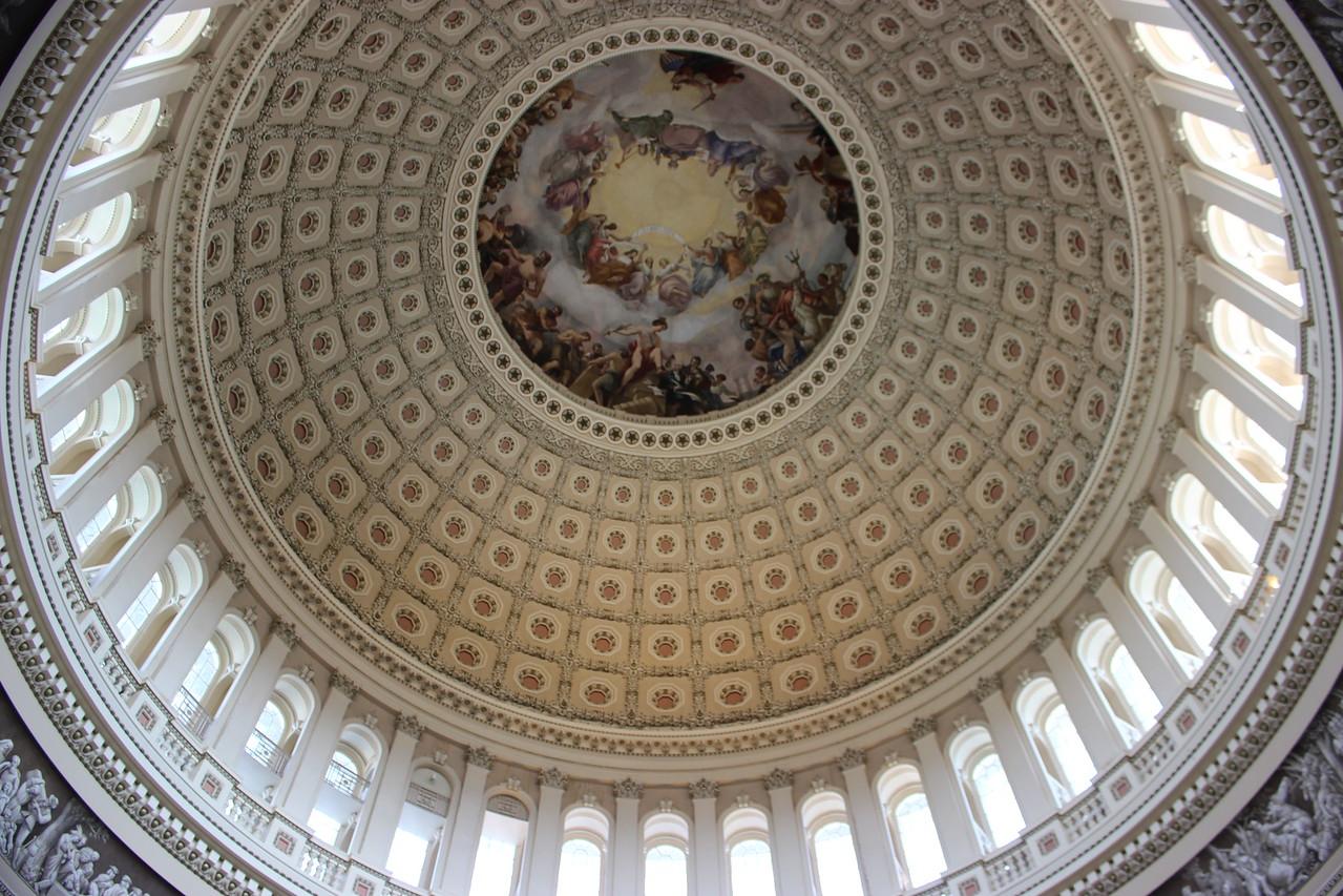 Apotheosis of Washington inside the Capitol Dome
