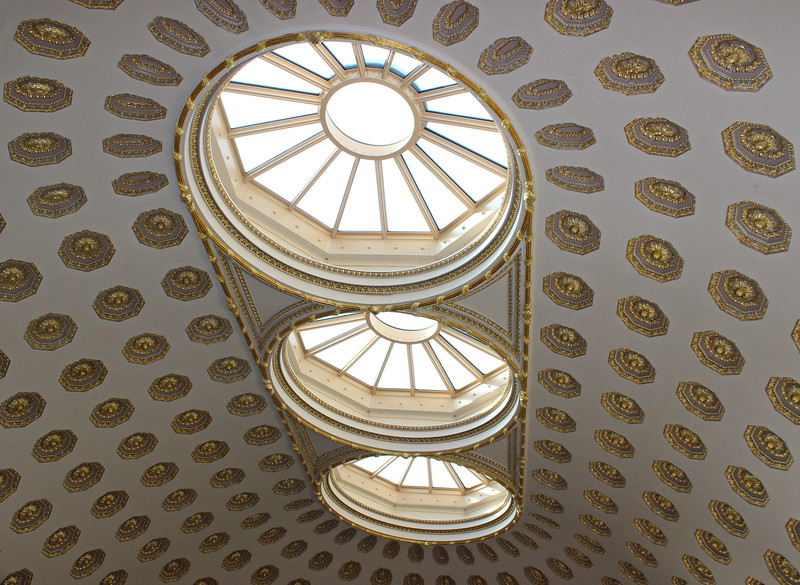 Triple Oculus Skylight over the West Dome