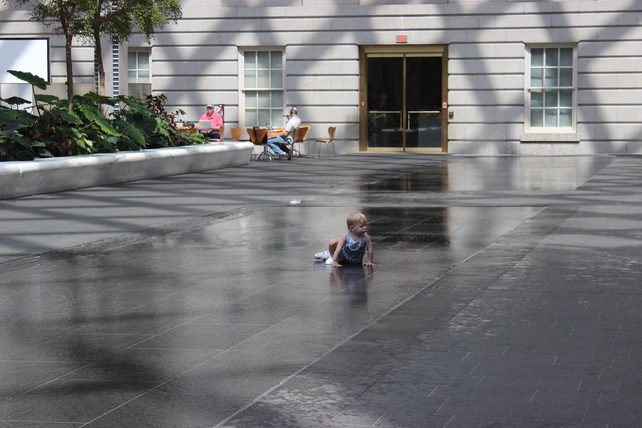 Exploring the Atrium Water Feature