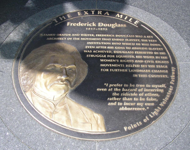 Frederick Douglass Plaque