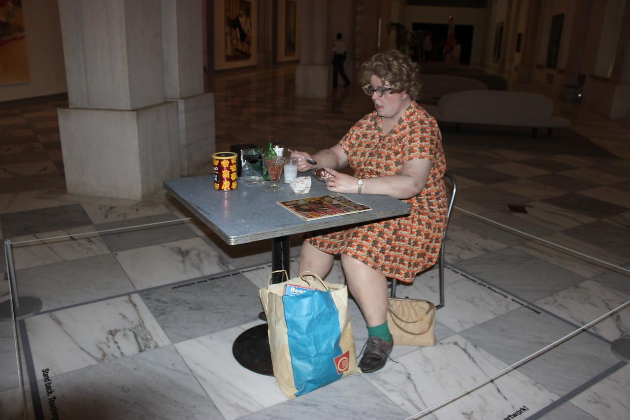 Woman Eating Soft Sculpture