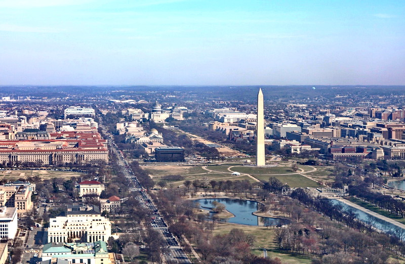 Washington Monument Aerial View