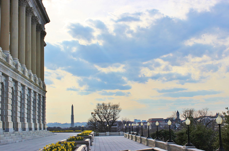 View of the Washington Monument from Treasury