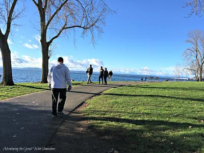 Strolling Along the Elliott Bay Trail in Seattle