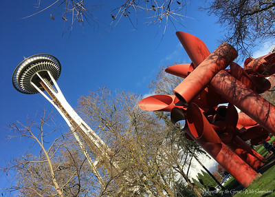 Alexander Liberman's Olympic Iliad, The Red Statue Outside the Seattle Space Needle